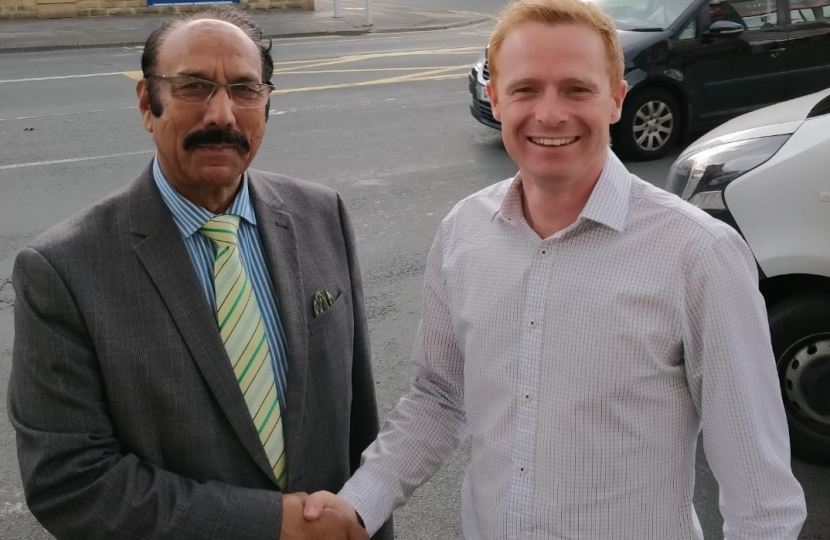 Cllr Zafar Ali and Robbie Moore